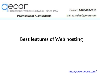 Best features of Web hosting