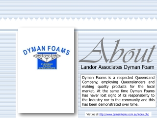 About Landor Associates Dyman Foam