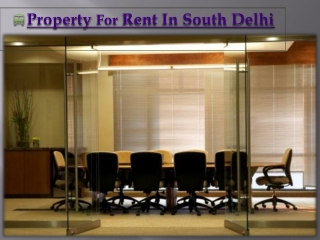 Property for Rent in South Delhi