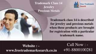 Trademark Class 14 | Jewelry | Precious Metals