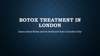 Botox Treatment in London