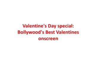 Valentine's Day special: Bollywood's Best Valentines onscree