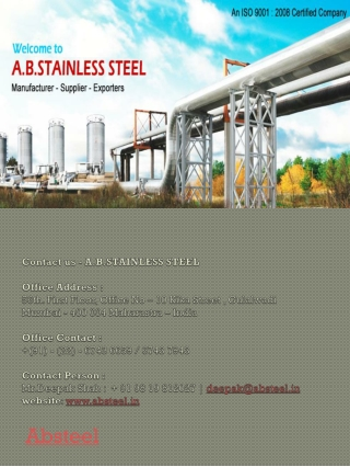 Stainless Butt Weld Fittings in USA, steel sheet in USA, Sta