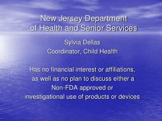 new jersey department  of health and senior services