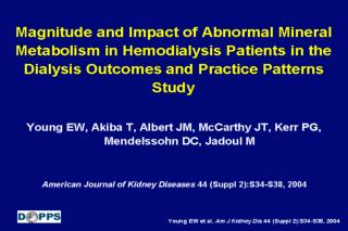 Magnitude and Impact of Abnormal Mineral Metabolism in Hemodialysis Patients in the Dialysis Outcomes and Practice Patte