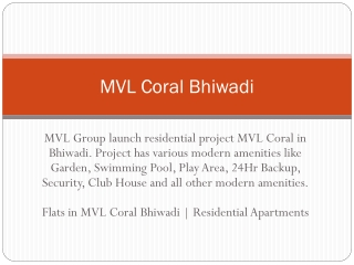 MVL Coral Bhiwadi
