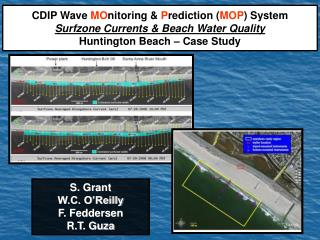 CDIP Wave MOnitoring  Prediction MOP System Surfzone Currents  Beach Water Quality Huntington Beach   Case Study