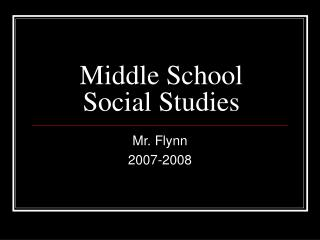 Middle School Social Studies