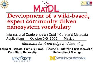 Development of a wiki-based, expert community-driven nanosystem vocabulary
