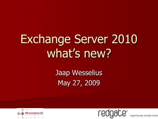 Exchange Server 2010 what s new