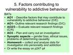 5. factors contributing to vulnerability to addictive behaviour
