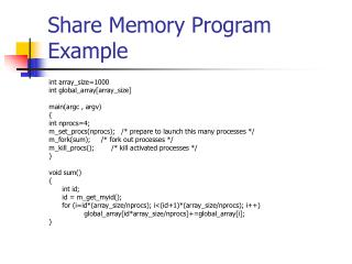 Share Memory Program Example
