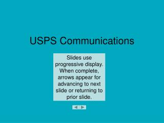 USPS Communications