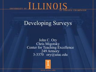 Developing Surveys