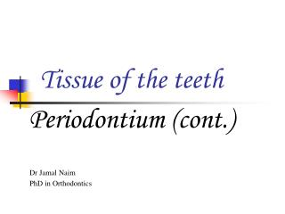 Tissue of the teeth