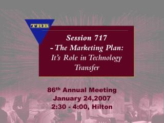 86th Annual Meeting January 24,2007 2:30 - 4:00, Hilton