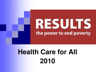 Health Care for All and Child Nutrition Power Point Presentation