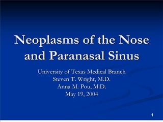 neoplasms of the nose and paranasal sinus