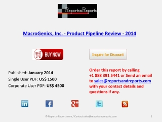 Pipeline Review on MedImmune, LLC - Product Industry 2014