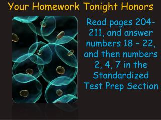 Read pages 204-211, and answer numbers 18   22, and then numbers 2, 4, 7 in the Standardized Test Prep Section