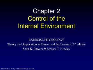 Chapter 2 Control of the  Internal Environment
