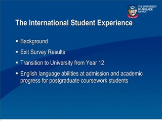 the international student experience