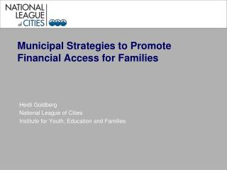 Municipal Strategies to Promote Financial Access for Families