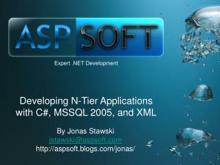 Developing N-Tier Applications with C, MSSQL 2005, and XML