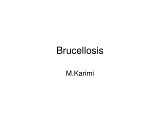 brucellosis  the liver