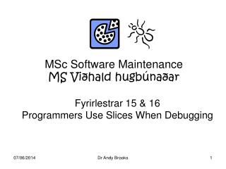 MSc Software Maintenance MS Vi hald hugb na ar