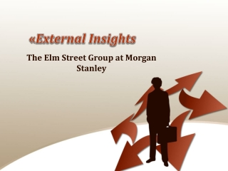 External Insights, The Elm Street Group at Morgan Stanley