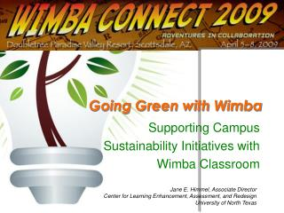 Going Green with Wimba