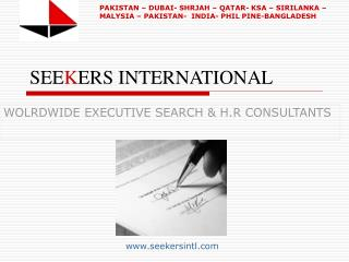 SEEKERS INTERNATIONAL