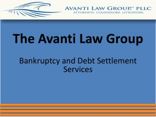 The Avanti Law Group: Bankruptcy and Debt Settlement Service