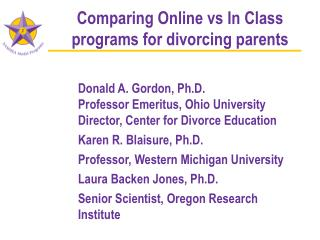 Comparing Online vs In Class programs for divorcing parents
