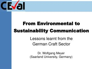 from environmental to sustainability communication