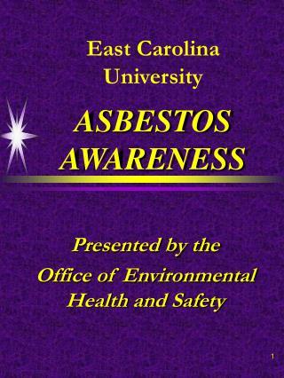 east carolina university  asbestos awareness