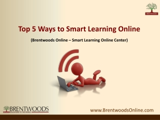Top 5 Ways to Smart Learning Online