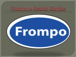 Frompo a Search Engine for all