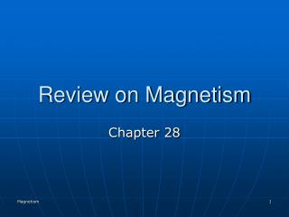 Review on Magnetism