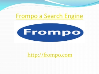 Frompo a Search Engine