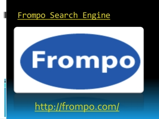 Frompo Search Engine best