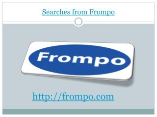 Searches from Frompo