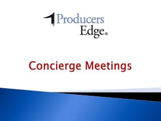 Concierge Meetings