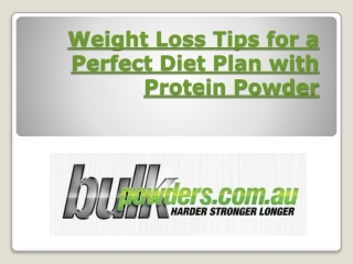 Weight loss tips for a perfect diet plan