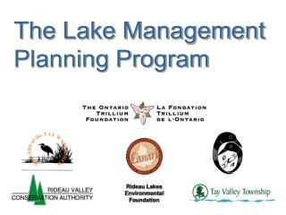 The Lake Management  Planning Program