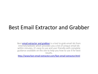 Best Email Extractor and Grabber