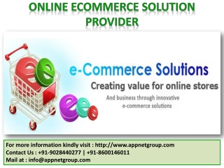 Online Ecommerce Solution Provider