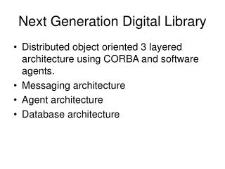 Next Generation Digital Library