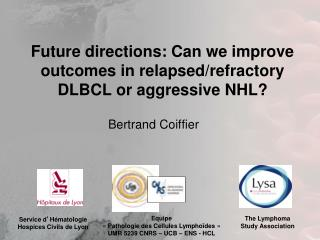 Future directions: Can we improve outcomes in relapsed